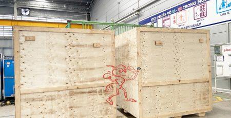 Đóng thùng gỗ thiết bị tại Bình Dương